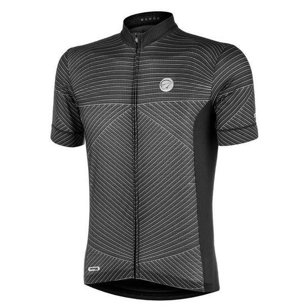Camisa Ciclismo Mauro Ribeiro Masculina Range Cinza e Preto