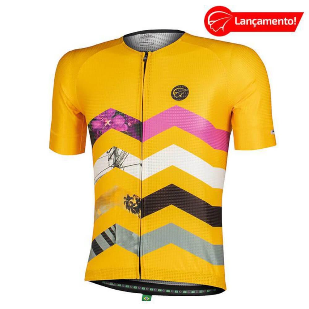 Camisa Ciclismo Mauro Ribeiro Masculina Summit Amarela