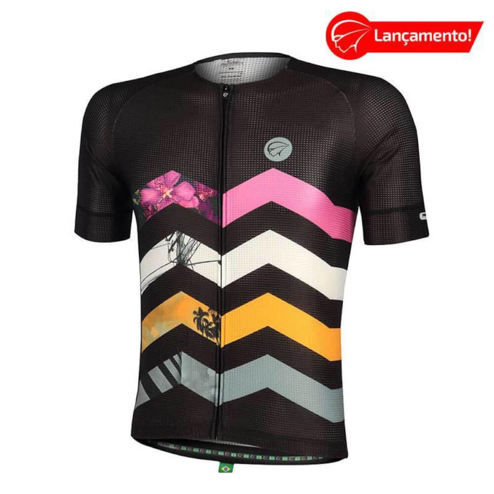 Camisa Ciclismo Mauro Ribeiro Masculina Summit Preta
