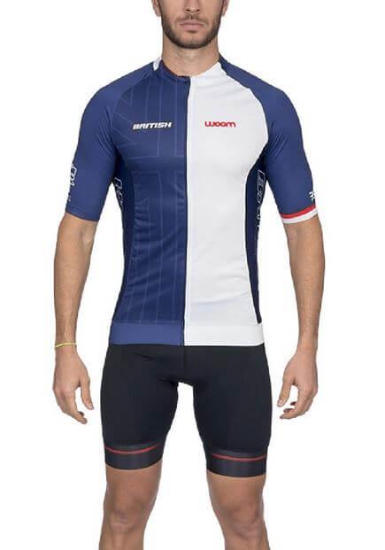 Camisa De Ciclismo Woom Supreme British 2020 Azul