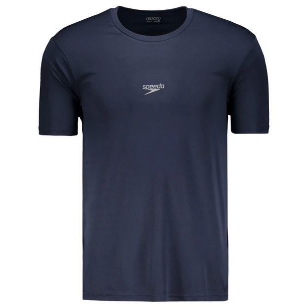 Camiseta Básica Corrida Speedo Interlock UV50 Marinho