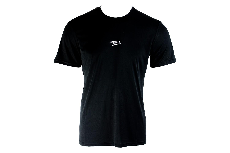 Camiseta Básica Corrida Speedo Interlock Uv50 Preto Masculin