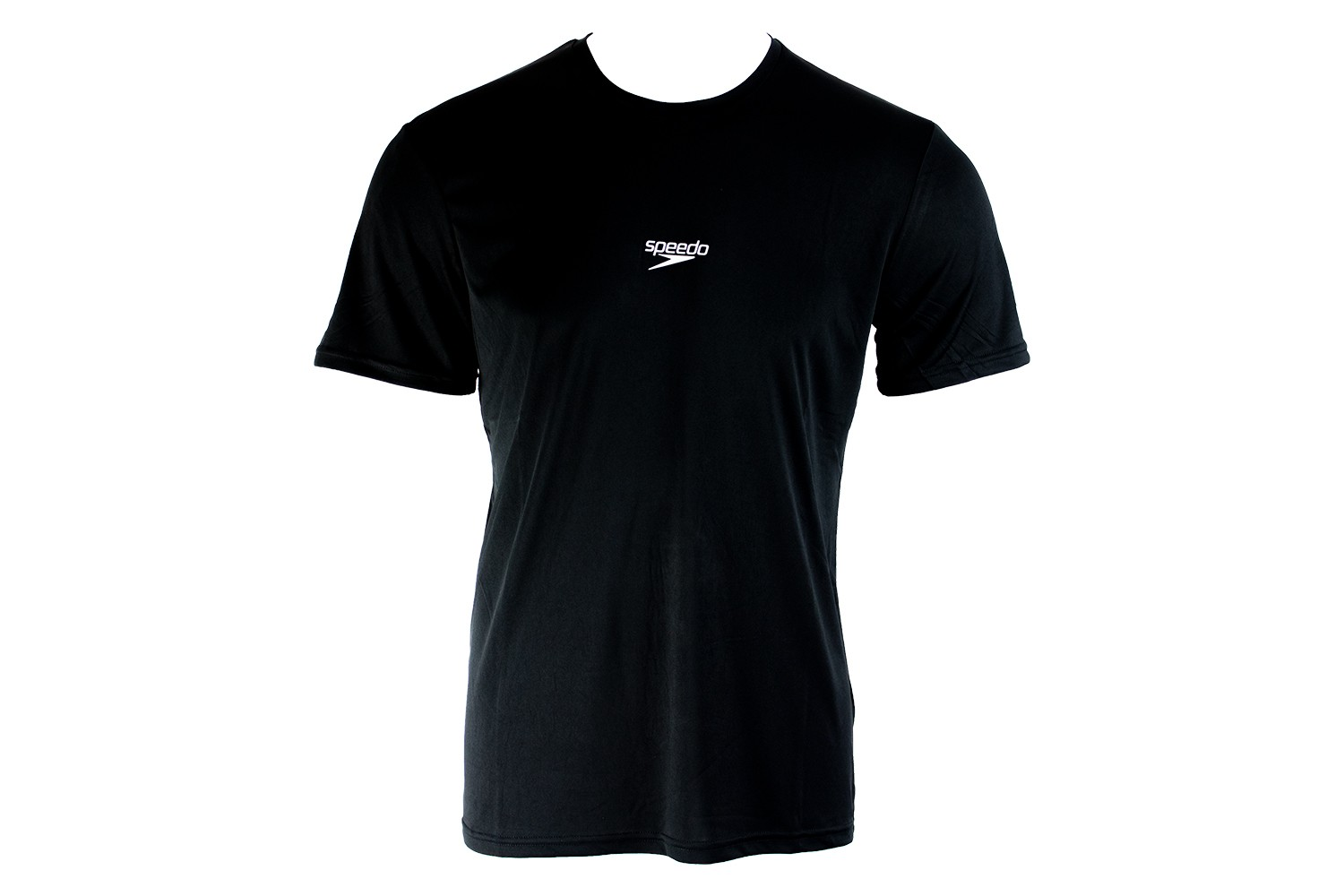 Camiseta Básica Corrida Speedo Interlock Uv50 Preto Masculin