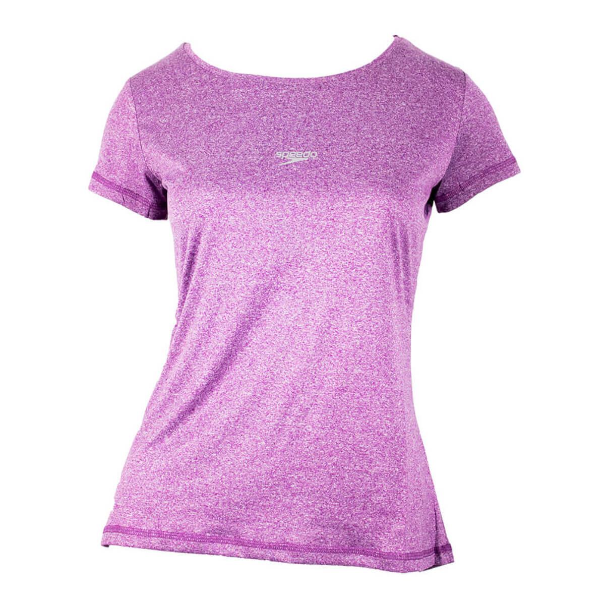 Camiseta Speedo Feminina Blend Mescla Purpura