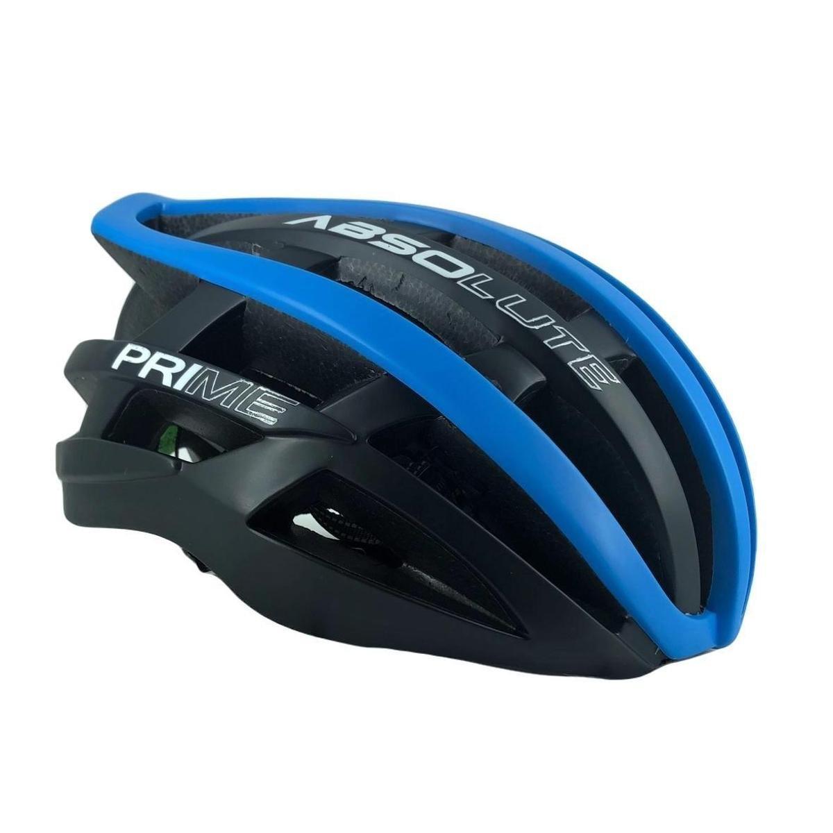 Capacete Ciclismo Absolute Prime Preto e Azul