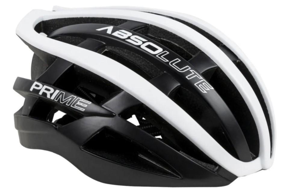 Capacete Ciclismo Absolute Prime Preto e Branco