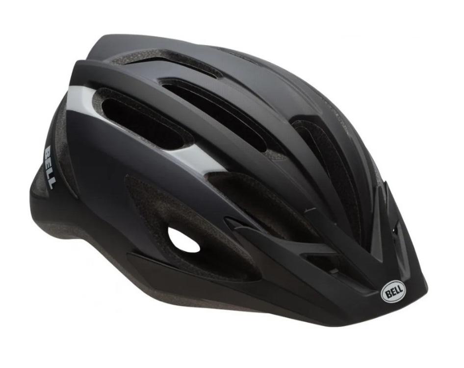 Capacete Ciclismo Bell Crest-R Com Viseira Preto E Titânio