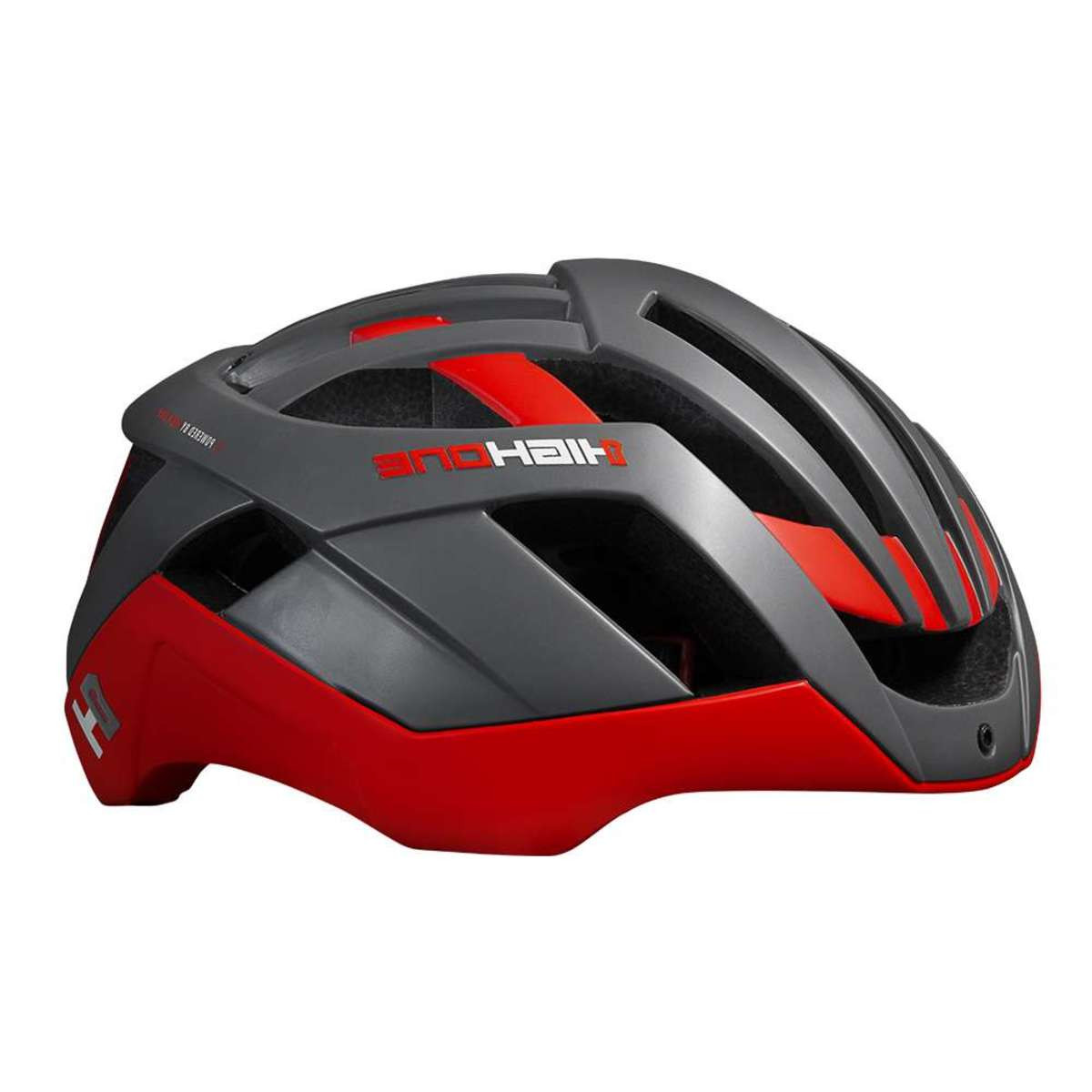 Capacete Ciclismo Bike High One Pro Space Cinza e Vermelho