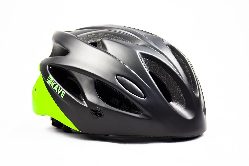 Capacete Ciclismo Bike Mtb Kave Revo Com Led + Aba Verde