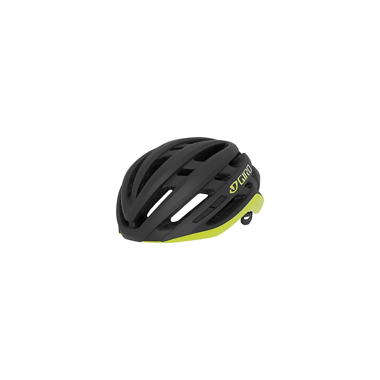 Capacete Ciclismo Giro Agilis Preto e Amarelo M 55-59