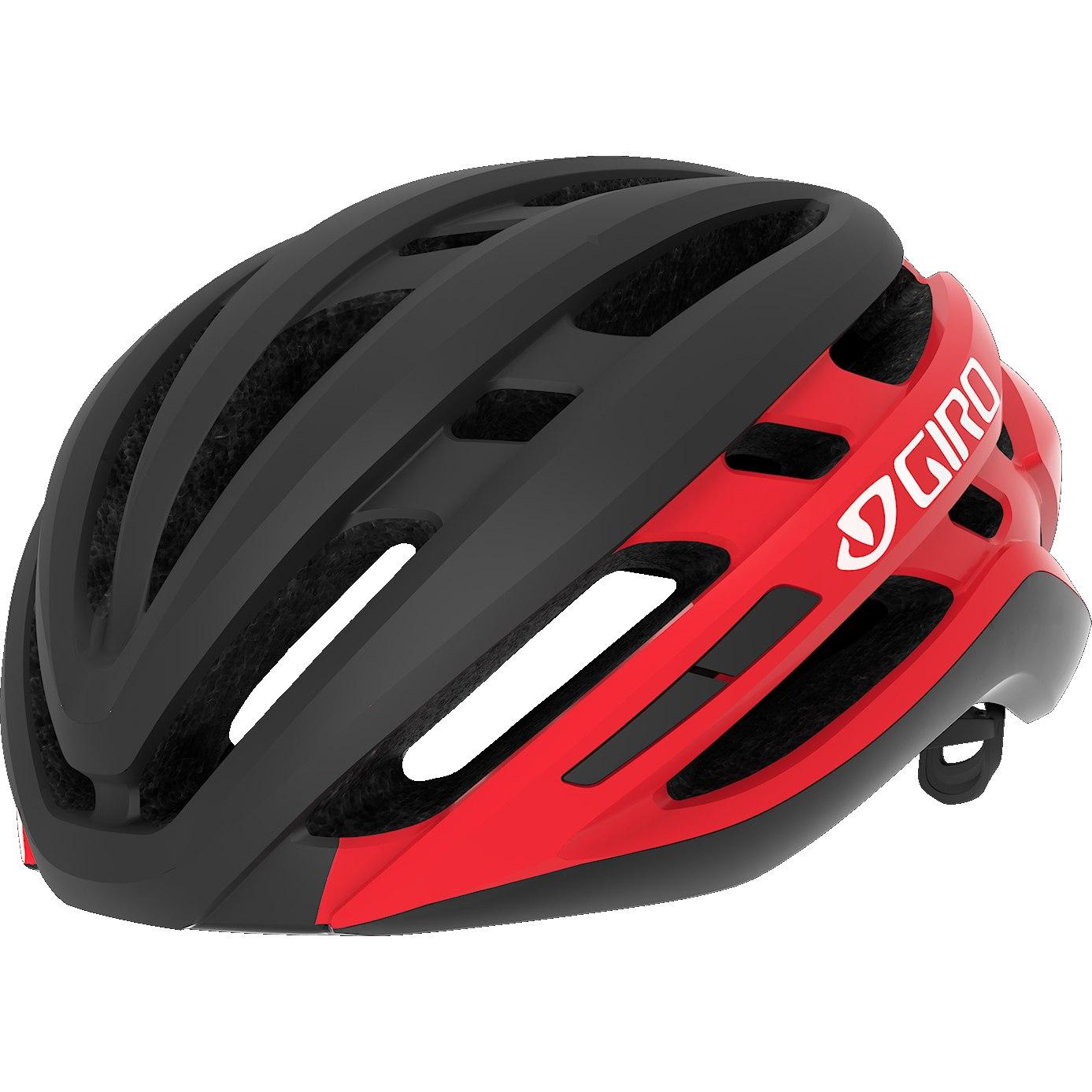 Capacete Ciclismo Giro Agilis Preto e Vemelho Tam. M 55-59