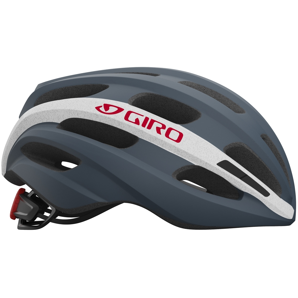 Capacete Ciclismo Giro Isode Cinza Branco Vermelho
