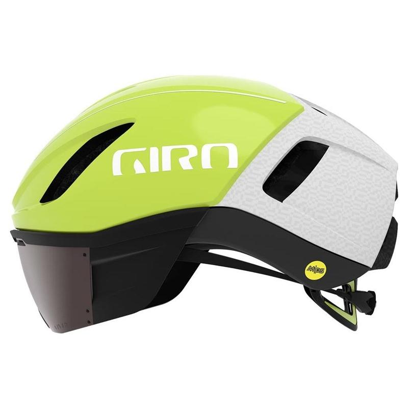 Capacete Ciclismo Giro Vanquish Mips Amarelo e Branco