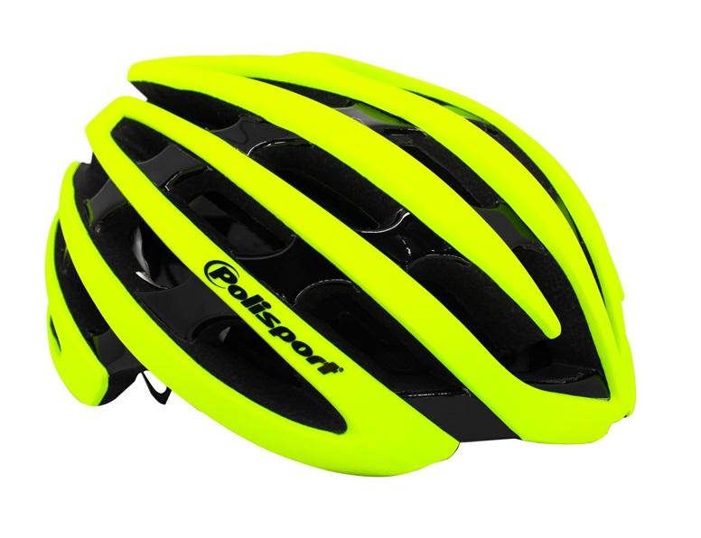 Capacete Ciclismo Polisport Light Road Amarelo e Preto
