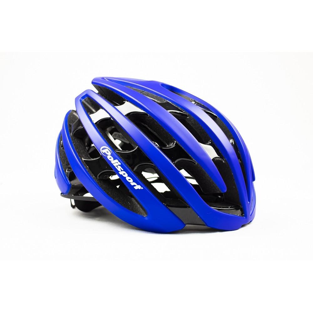 Capacete Ciclismo Polisport Light Road Preto e Azul
