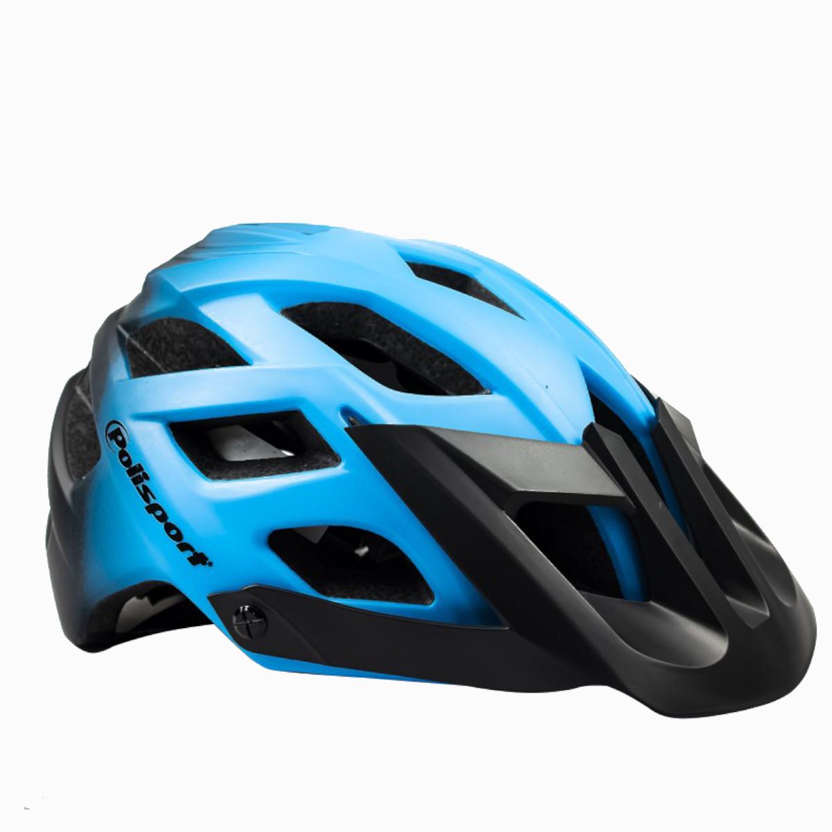 Capacete Ciclismo Polisport MTB E3 Azul e Preto