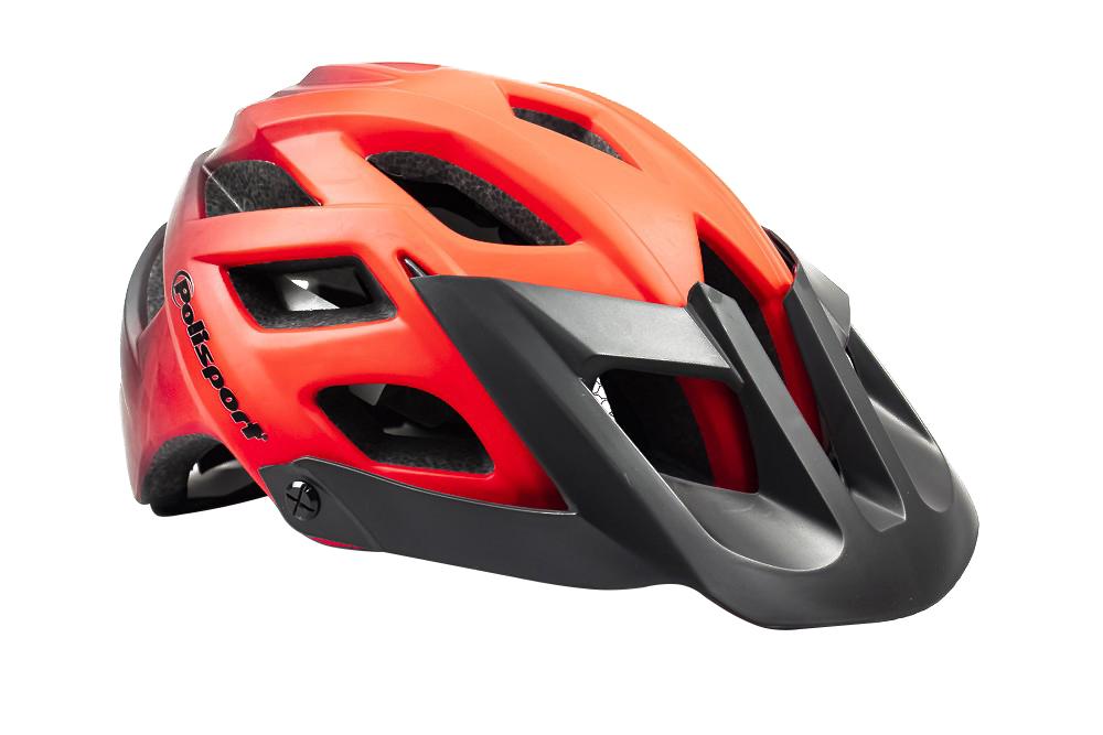 Capacete Ciclismo Polisport MTB E3 Vermelho e Preto