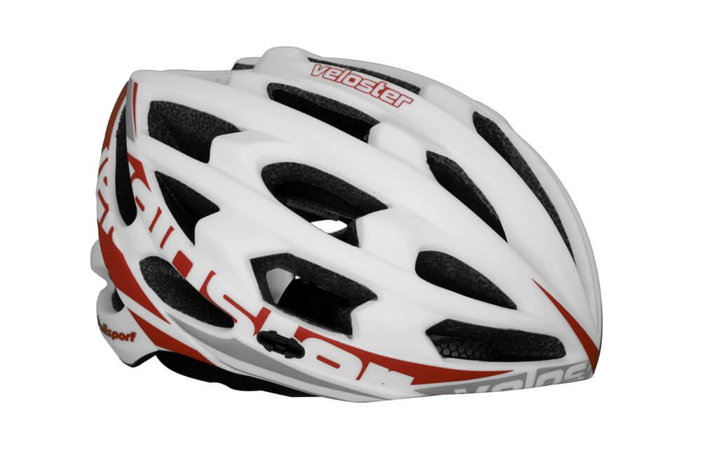 Capacete Ciclismo Polisport Veloster Branco e Vermelho