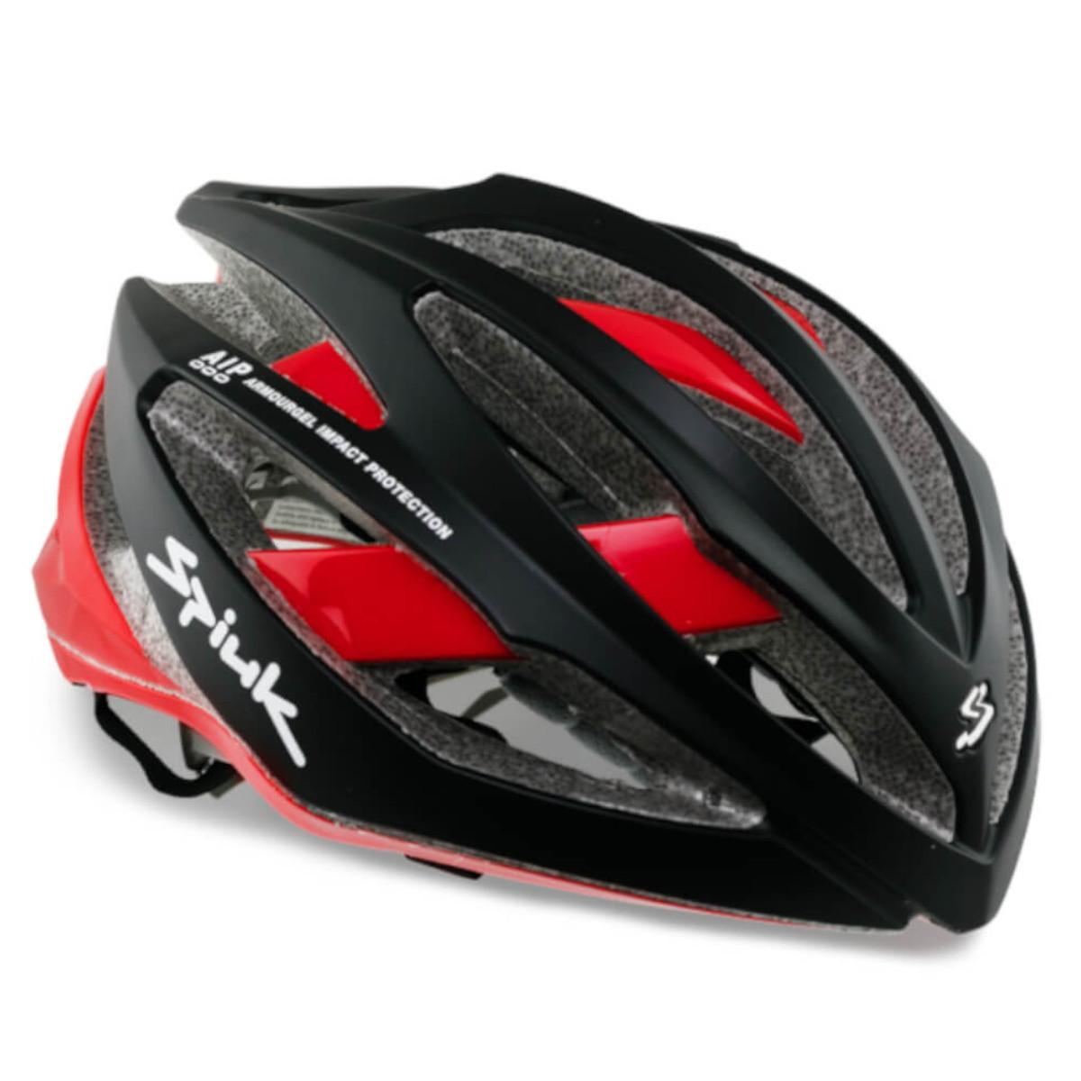 Capacete Ciclismo Spiuk Adante Preto Fosco/Vermelho