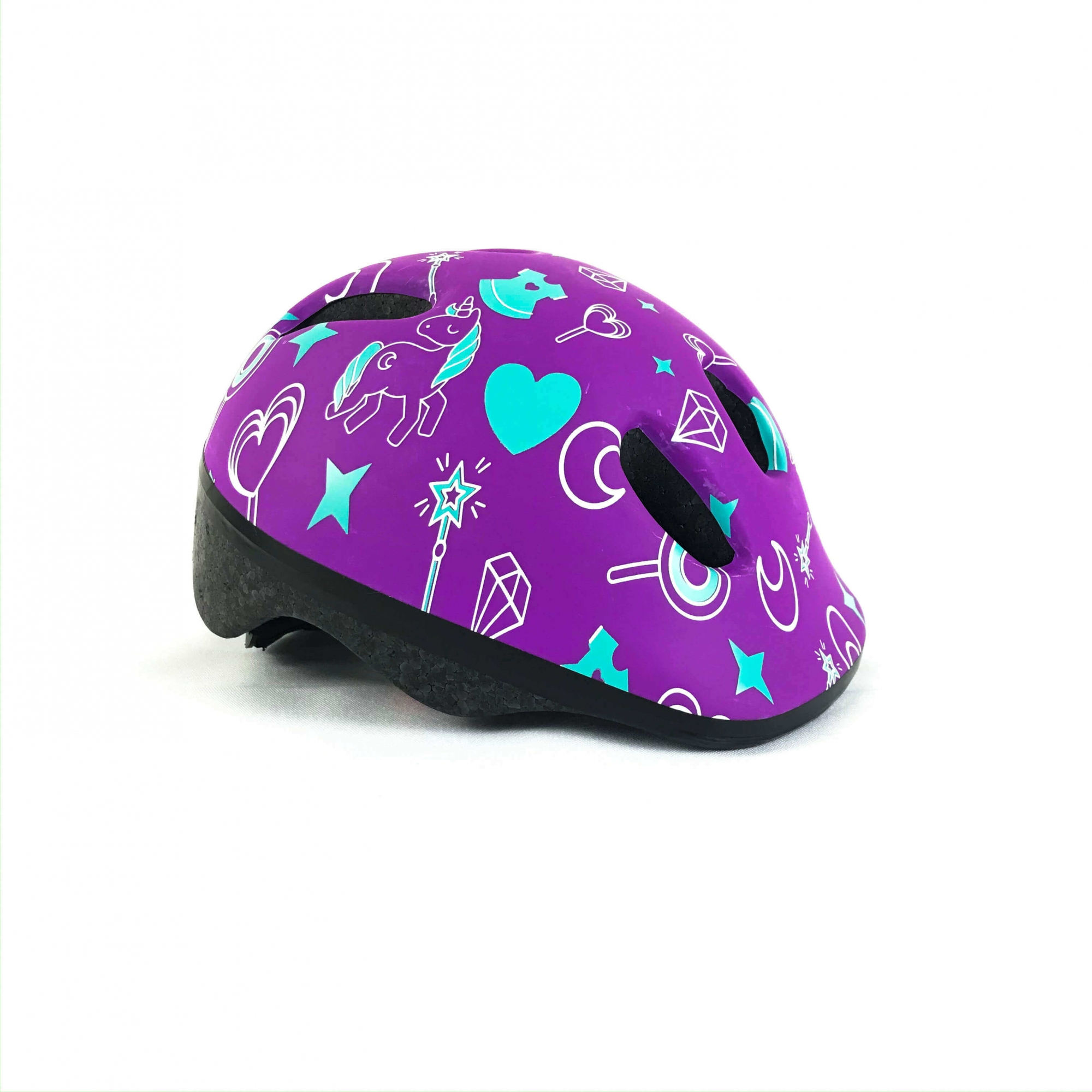 Capacete Infantil Para Bicicleta Triz Baby Roxo