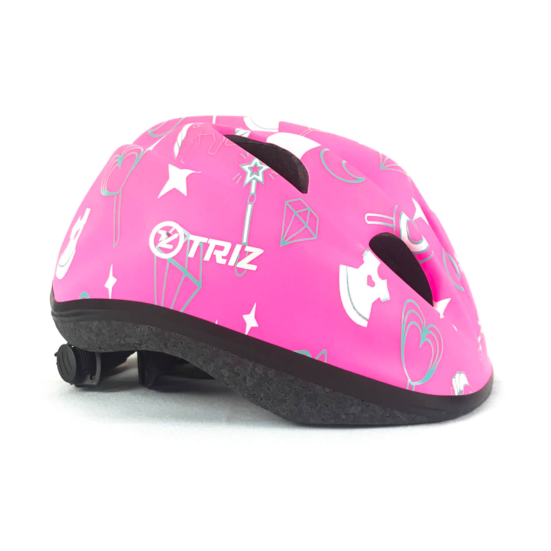 Capacete Infantil Para Bicicleta Triz Kids Rosa