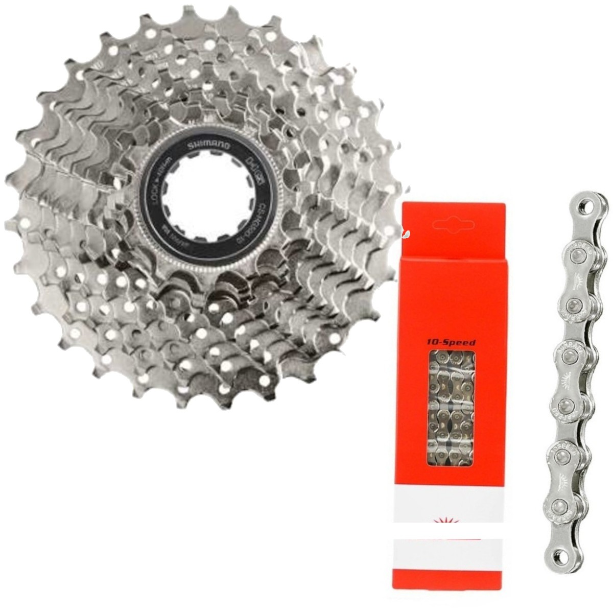 Cassete Speed Shimano Cs-Hg500-10 12-28d 10v + Corrente 10v