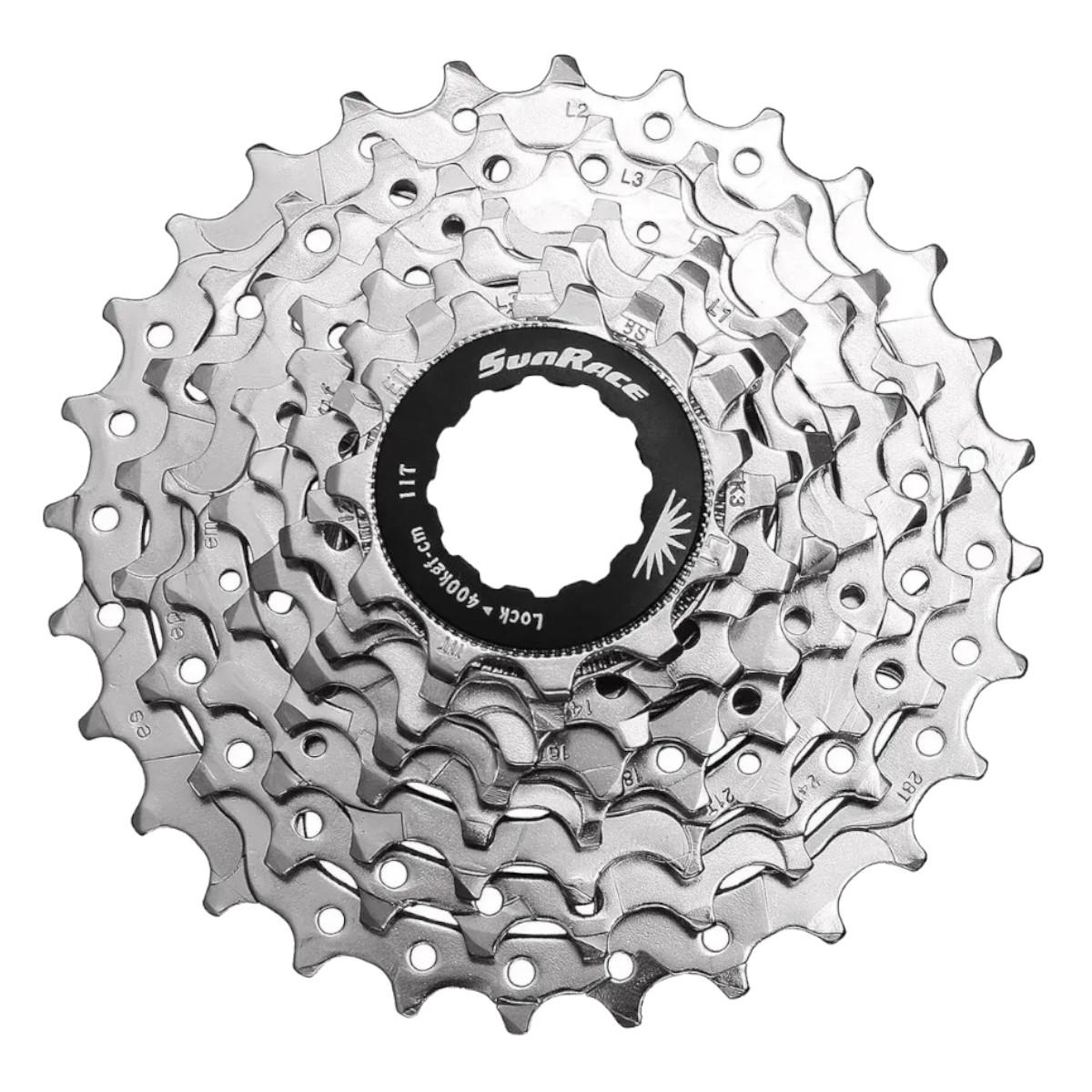 Cassete Sunrace R86 11-28 8v Cromado Bike Speed
