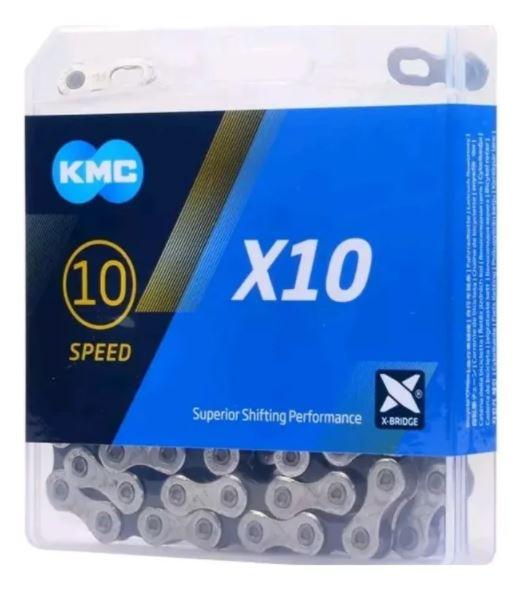 Corrente Para Bike KMC X10 116 Elos Pta/Pto Transmissão 10V