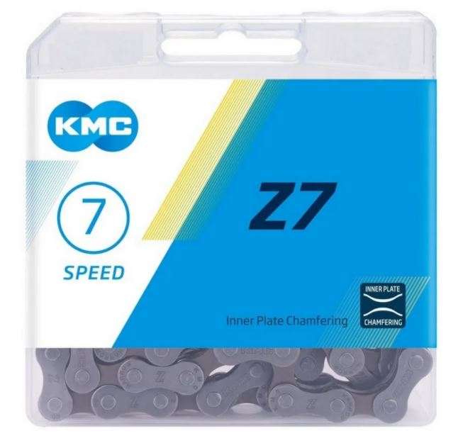 Corrente Para Bike Kmc Z7 116 Elos Indexada Mtb 6v 7v 8v