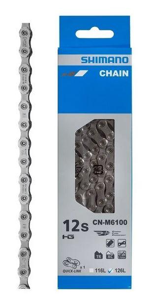 Corrente Shimano 12v cn - m6100 126 links com Power Link