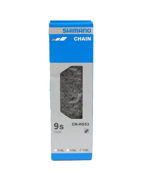Corrente Shimano 9v HG 53 114 Elos Links