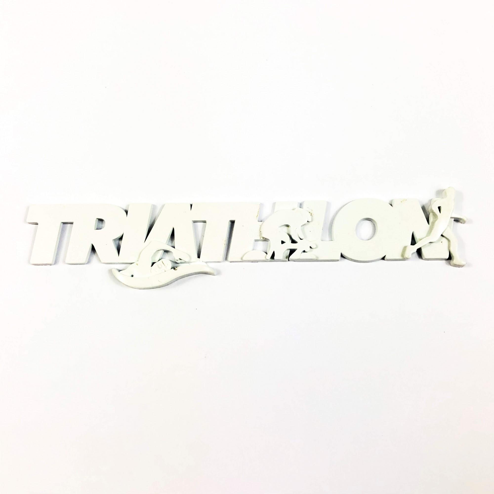 Emblema Ictus Triathlon Cor Branco com Imã