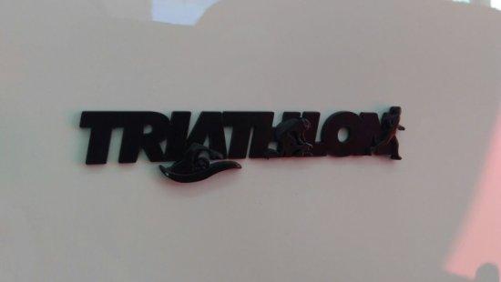 Emblema Ictus Triathlon Preto com Imã
