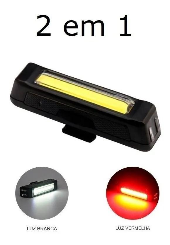Farol Comet luz vermelha ou Branca Recarregável 100 Lumens