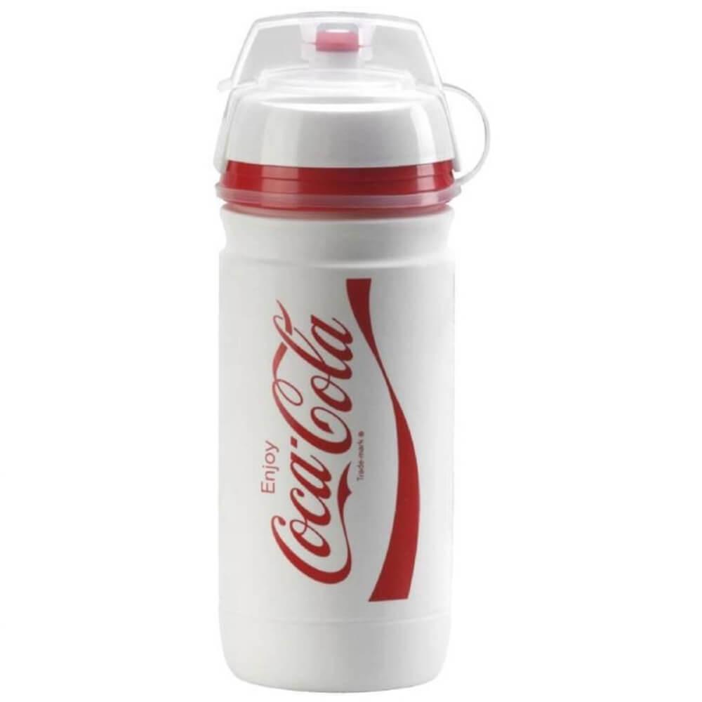 Garrafa Caramanhola Elite Corsa Coca Cola Branca 550ml