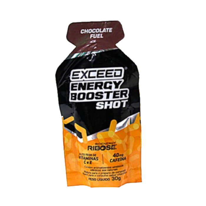 Gel Carboidrato Exceed Energy Booster Cafeína Chocolate Fuel