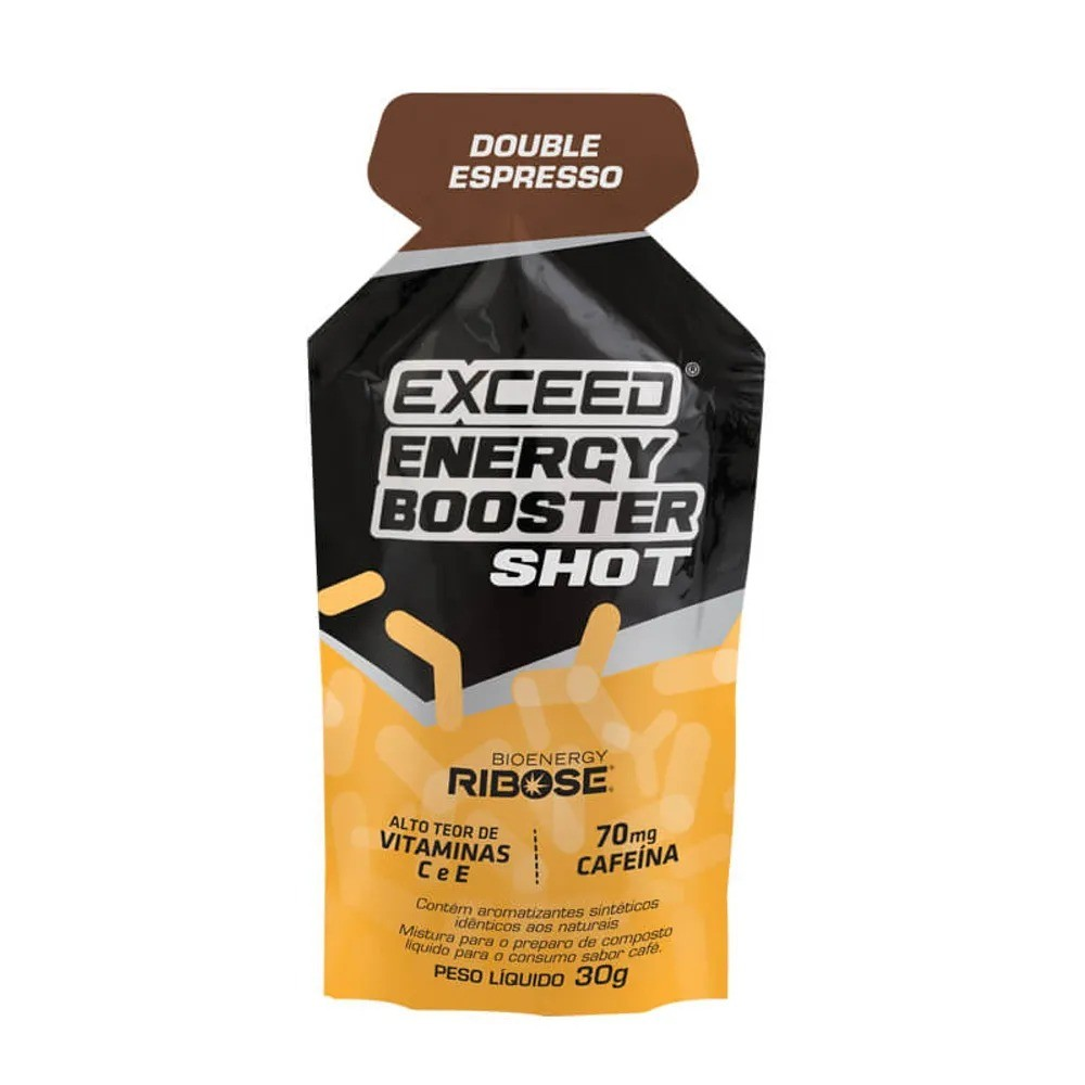 Gel Carboidrato Exceed Energy Booster Cafeína Double Espress
