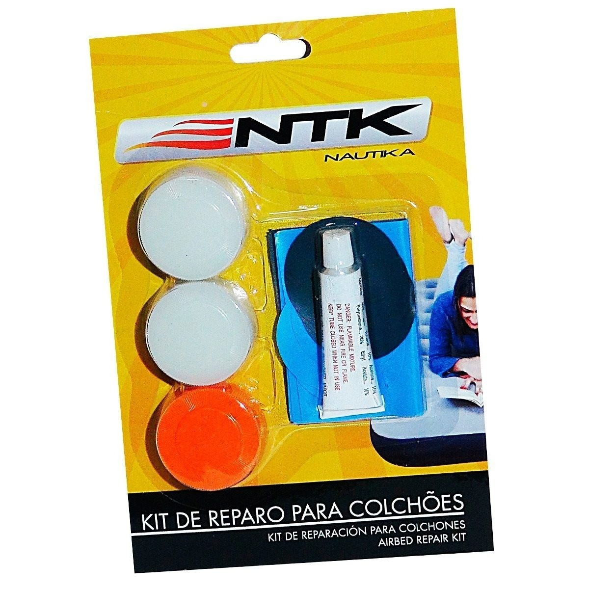 Kit de Reparo para colchão inflável Nautika