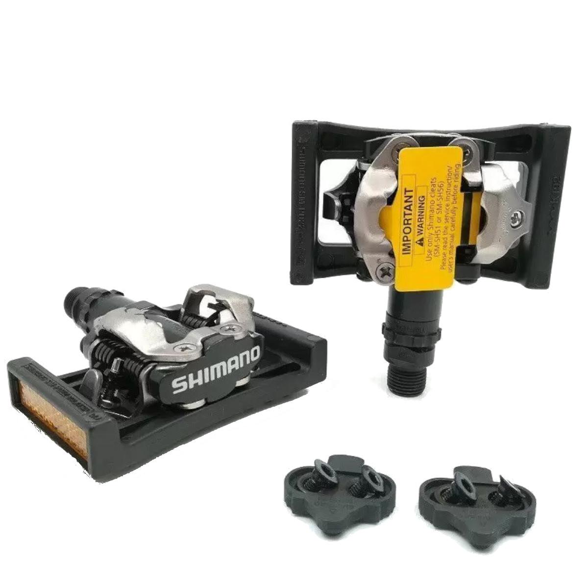 Kit Pedal Shimano M520 MTB Com Tacos + Plataforma Shimano