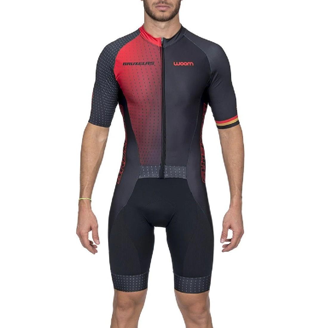 Macaquinho Ciclismo Woom Supreme Bruxelas Vermelho Masculino