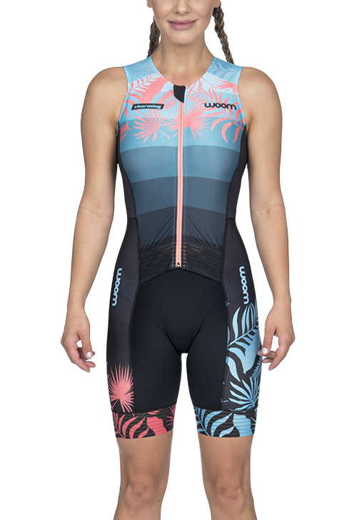 Macaquinho Triathlon Sem Manga Woom Charming Feminino