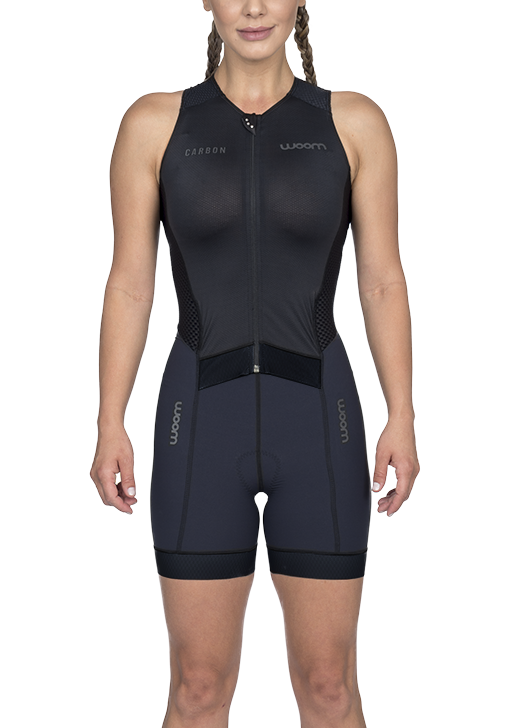Macaquinho Triathlon Woom Feminino Carbon Black 2020