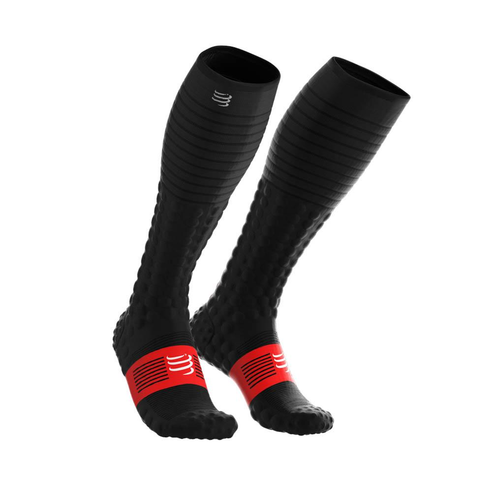 Meia de Compressão Compressport Full Socks V3.0 Run Preto