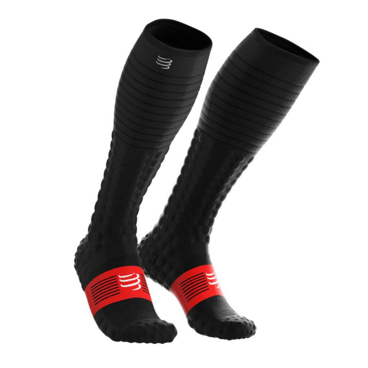 Meia de Compressão Compressport Full Socks V3.0 Run Preto