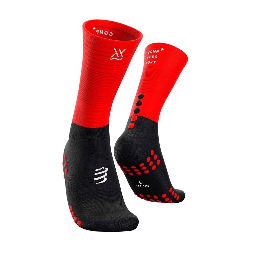Meia de Compressao Compressport Mid Compression Socks Oxygen
