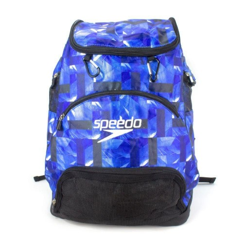 Mochila De Natação Transição Speedo Swim II Estampado Azul