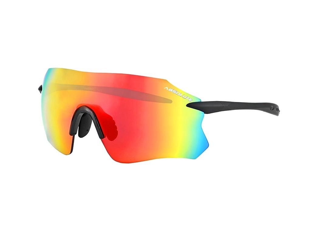 Óculos Ciclismo Absolute Prime Sl Preto Fosco Lente Vermelha