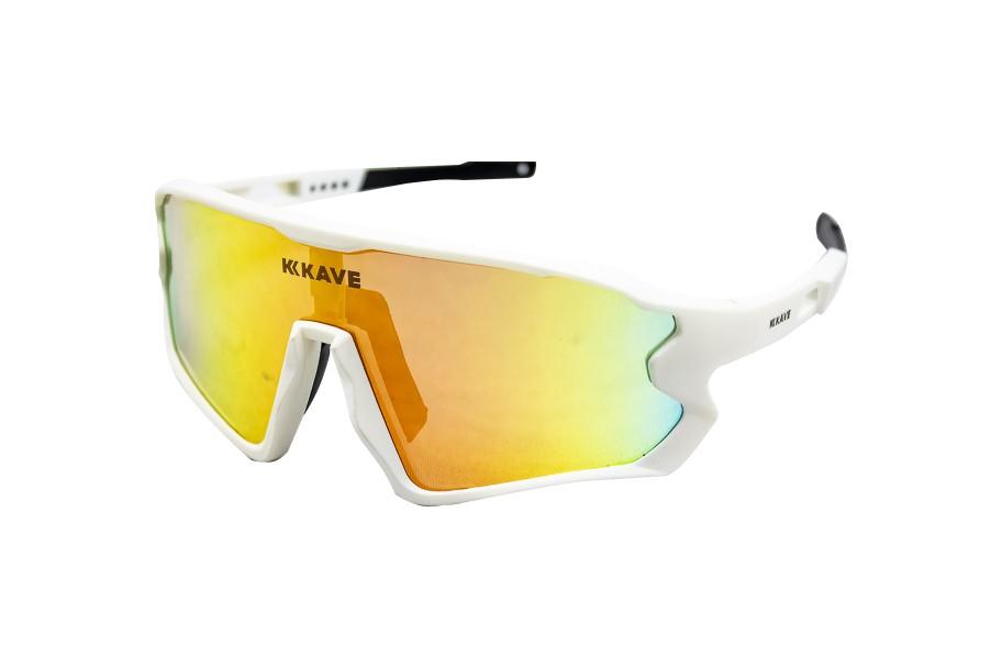Óculos Ciclismo Kave Spark 3 Lentes Box Branco Lente Grau
