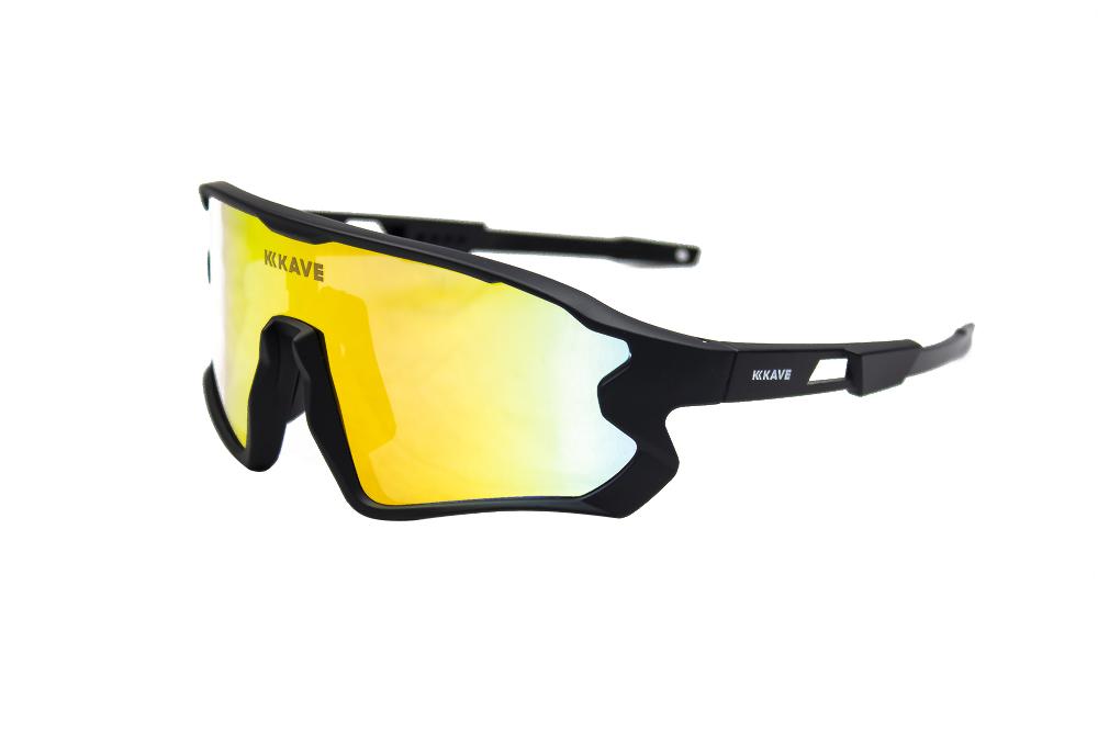 Óculos Ciclismo Kave Spark 3 Lentes Box Preto Lente Grau