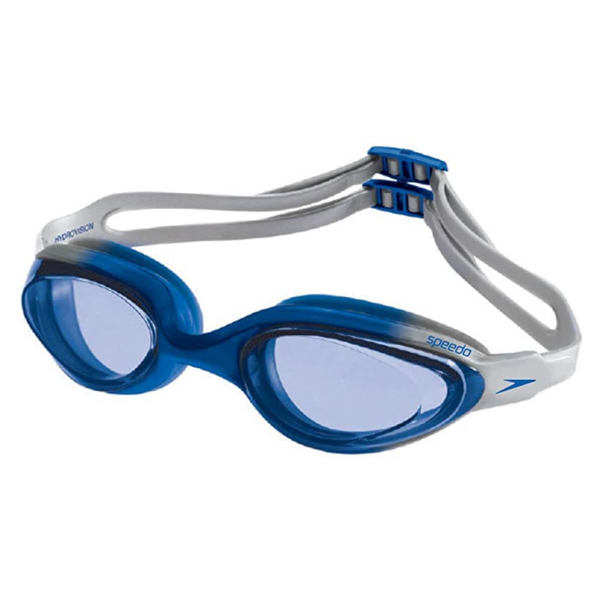 Óculos de Natação Speedo Hydrovision Azul e Prata Lente Azul